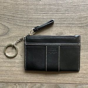 Coach leather card holder